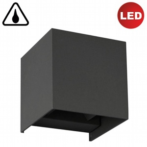 Wandleuchte Qube LED 7W IP44 anthrazit