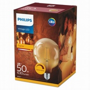 LED Retro Globe E27 Gold 7W (50W) Gold - dimmbar